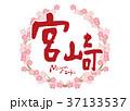 宮崎 筆文字 桜 フレーム 37133537