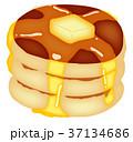 デザート バター シロップのイラスト 37134686