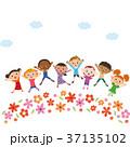 子供と花畑 37135102