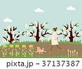 春 人物 イメージのイラスト 37137387