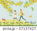 春 人物 イメージのイラスト 37137427