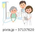 医師 患者 入院のイラスト 37137620