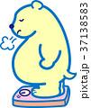 肥満 体重計 ため息のイラスト 37138583