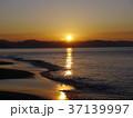 夜明け 七里ヶ浜海岸 初日の出の写真 37139997