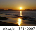 夜明け 七里ヶ浜海岸 初日の出の写真 37140007
