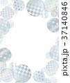銀色 フレーム テクスチャーのイラスト 37140846