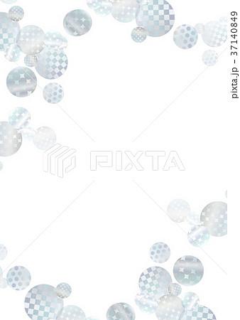 フレーム テクスチャー 銀色 37140849