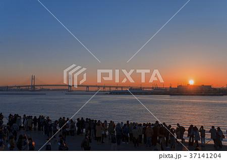 【横浜】横浜大さん橋から見る初日の出 37141204