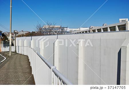 横浜刑務所の塀と歩道 37147705