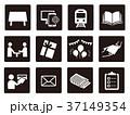 モノクロ 広告媒体 ピクトグラムのイラスト 37149354