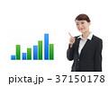 ビジネス グラフ 案内のイラスト 37150178
