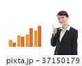 ビジネス グラフ 案内のイラスト 37150179