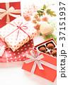 プレゼント リボン バレンタインの写真 37151937