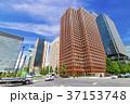 道路 高層ビル 建物の写真 37153748