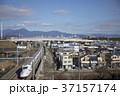 静岡県静岡市 東海道新幹線と富士山と静岡市街 37157174