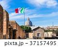 ローマ サンタンジェロ城から眺めるサン・ピエトロ大聖堂 37157495
