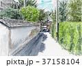 水彩画 萩市 武家屋敷のイラスト 37158104