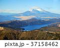 富士山と芦ノ湖 37158462