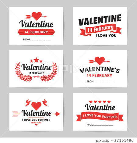 valentine template banner vector backgroundのイラスト素材 37161496