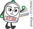 目覚まし時計 アラーム 時計のイラスト 37179162