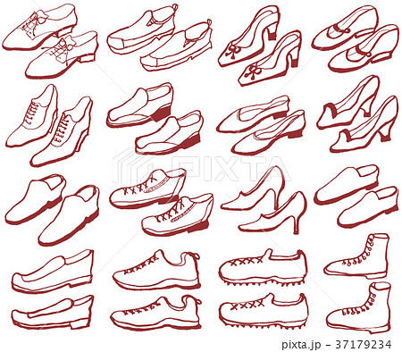 靴 セット 手書きイラスト