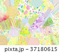 コラージュ 背景素材 模様のイラスト 37180615