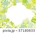 コラージュ フレーム 背景素材のイラスト 37180633