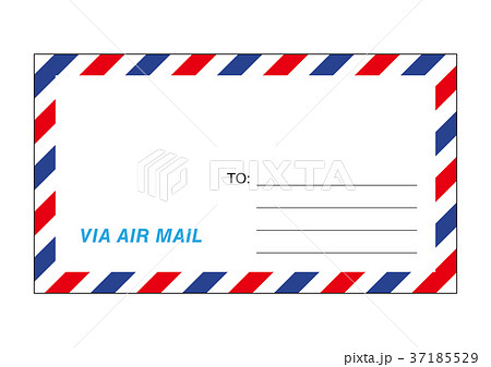 エアメールの封筒イラスト 37185529