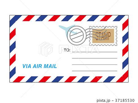 エアメールの封筒イラスト 37185530