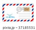 エアメール 封筒 郵便のイラスト 37185531