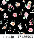 Seamless summer pattern with watercolor flowers 37186503