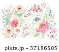 Greeting card with watercolor flowers handmade. 37186505