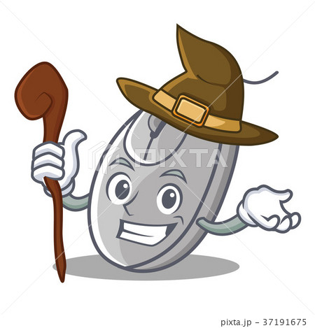 Witch mouse mascot cartoon style 37191675