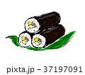 恵方巻き 巻寿司 手描きのイラスト 37197091