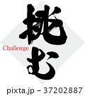 挑む(筆文字・手書き) 37202887