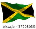 ジャマイカ  国旗 旗 アイコン  37203035