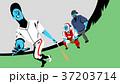 イラストレーション ベースボール 白球のイラスト 37203714