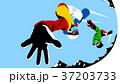 青 ダイナミック 豪快のイラスト 37203733