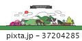 イラスト 動物 フェンスのイラスト 37204285