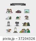 イコン 動物 バックグラウンドのイラスト 37204326
