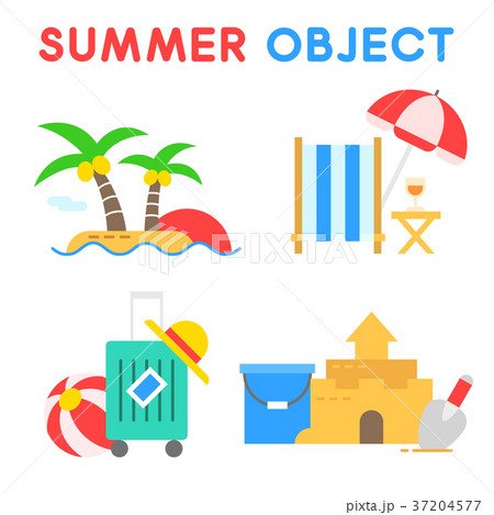 Set of Summer object 007 37204577