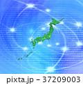 デジタルの海と緑の日本地図 37209003