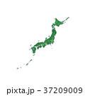 緑の日本地図 37209009
