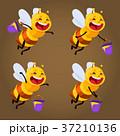 ハチ はちみつ 蜂蜜のイラスト 37210136