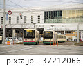 富山県富山市 富山駅と路面電車 37212066