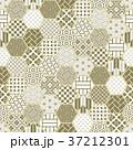亀甲 背景 和柄のイラスト 37212301