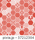 亀甲 背景 和柄のイラスト 37212304
