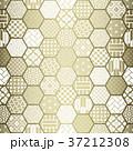 亀甲 背景 和柄のイラスト 37212308