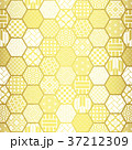 亀甲 背景 和柄のイラスト 37212309