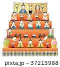 お雛様 雛壇 雛人形のイラスト 37213988